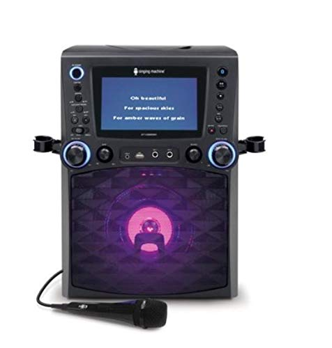 Lowest Price! Singing Machine STVG885BK Bluetooth Karaoke System with 7 Color Monitor, music-syncin...