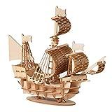 Ourine 3D Puzzle Barco Pirata Maqueta de Barco y Barco Kit de Barco para Adultos, Grandes y difíciles La Venganza de la Reina Ana