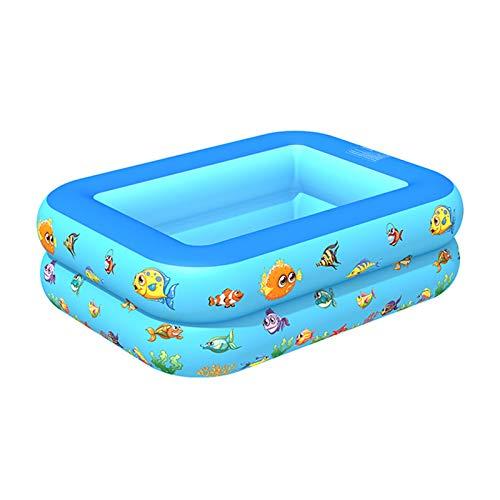 YHNHT Piscina inflable infantil de 59 pulgadas Sealive inflable piscina rectangular para niños, familia, al aire libre