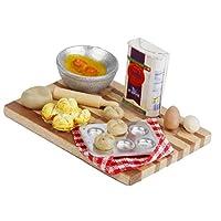 yotijar ドールハウスミニ1:12キッチンフード卓上ベーキング卵ミルクパンモデル