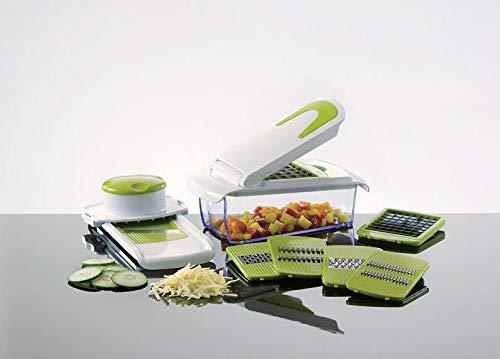 Enrico® Obst und Gemüseschneider, rutschfest - vielseitiger Zerkleinerer und Hobel für Zwiebeln, Käse oder Wurst