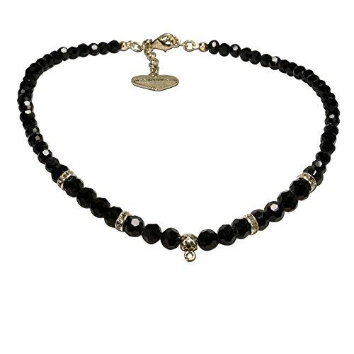 Alpenflüstern Perlen-Trachtenkette antik-gold-farben für Anhänger - Damen-Trachtenschmuck,...