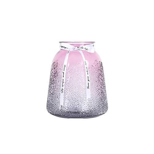 CBing-Indoor decoratie, meerkleurige glazen vaas, helling tafelblad vaas bloemen-droogbloemen-watercultuurvaas beschikbaar in 4 soorten, afmetingen 15 x 15 x 18 cm