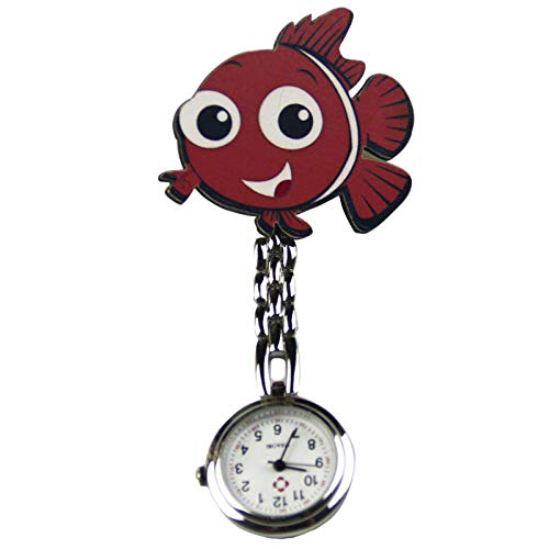 Cxypeng Reloj de Enfermera,Hospital de Moda de Dibujos Animados con Reloj de Bolsillo de Enfermera, Reloj de Bolsillo de Cuarzo con Clip de aleación-LL,Paramédico Doctor, Reloj de Bolsillo