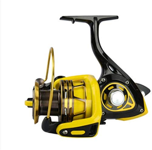 QAZWSX Carrete de Pesca, Cabezal de Metal Línea de Pesca con Rueda de mar Pole de mar Rueda de Rueda de Rueda Larga Rueda de Pesca Rueda Spinning 6000 Carrete de Pesca