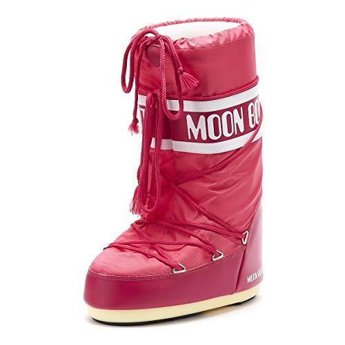 Moon Boot 140044, Stivali Invernali Unisex, Materiale suola: Gomma, Rosa (Bouganville), 35-38