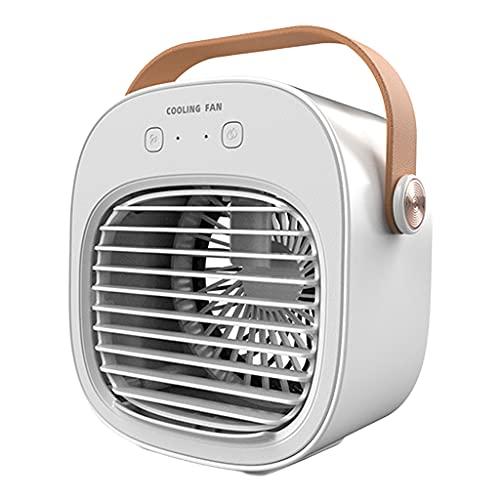 Amuzocity Ventilador de Aire Acondicionado con Mango USB Ventilador Enfriador de Aire por Evaporación - Blanco