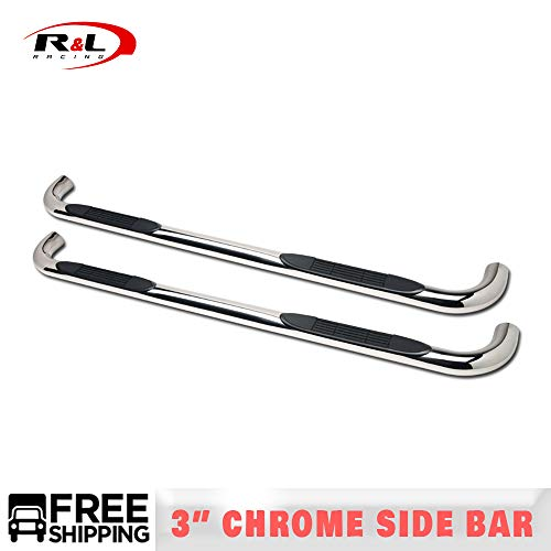 R&L Racing 3' Chrome Nerf Bars Steel Side Step for F150 Super Crew 2004-2008...
