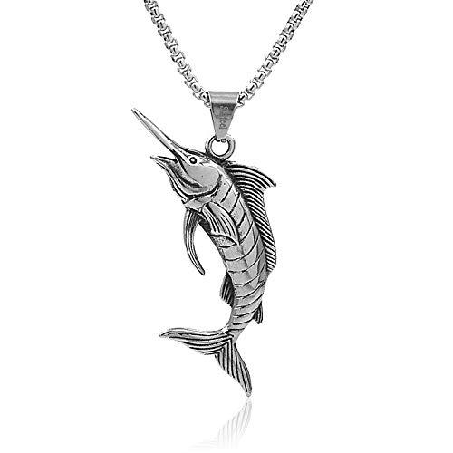 Collana in acciaio inossidabile 3D Ocean Animal ciondolo tonno Collane gioielli Ciondolo auto Gioielli regalo