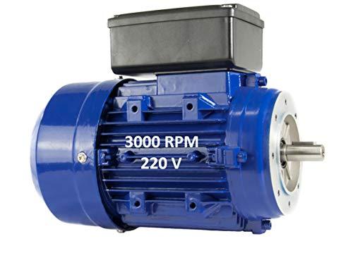 Alren - Motore Elettrico Monofase 0,55 KW, 0,75 CV, 220 V 3000 Rpm, Ancoraggio Tramite Flangia B14 (105 Mm), Grandezza 71, Albero Motore 14 Mm