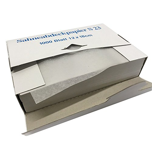 Sahneabdeckpapier 12x18cm 1000er