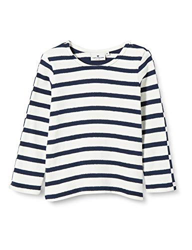 TOM TAILOR Baby-Jungen Sweatshirt T-Shirt, y/d Stripe|Multicolored, 86