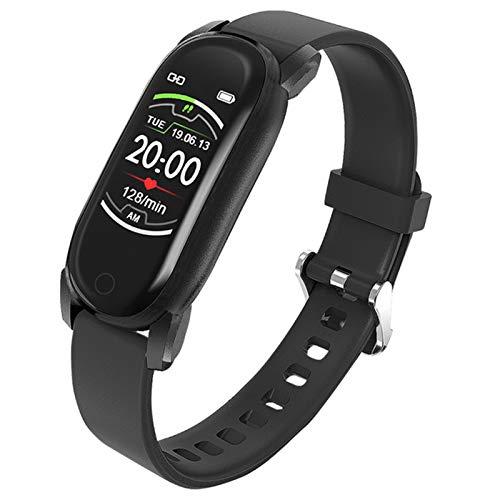 QAK YH6 Temperatura Smart Brazalet Watch Ladies Hombres Pulsera Inteligente Tracker Fitness para Android iOS Smartband Top Muñeca De Pulsera De Lujo,C