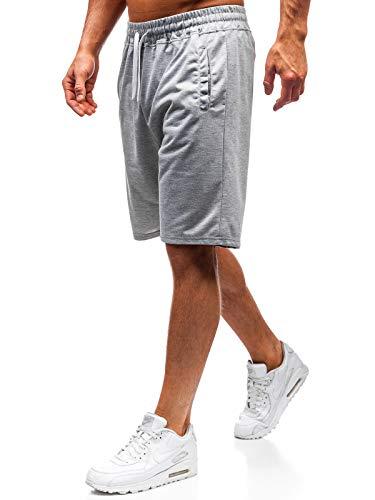 BOLF Pantaloncini – Corti – Estivi – Sportivi – da Allenamento – Leggeri – Uomo J.Style DK02 Grigi XXL [7G7]