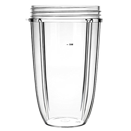 QUIENKITCH Replacement 24oz Cup for Nutri 600W Bullet and Nutri Pro 900W Bullet Blender Parts
