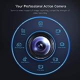 APEMAN Action Cam A100, Echte 4K WiFi 20MP Unterwasserkamera Digitale wasserdichte 40M Helmkamera (Extreme Video/Bildstabilisator, 2x1350mAh verbesserten Batterien)