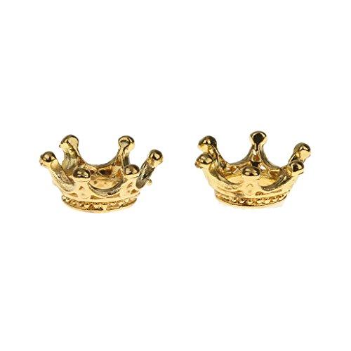 oshhni 50x Ciondoli a Forma di Corona d'oro Perle Sciolte Creazione di Gioielli Risultati Artigianali Fai da Te
