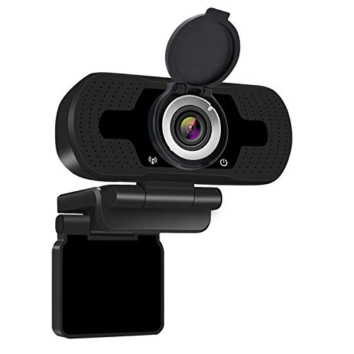 Anivia W8 Full HD Webcam, USB 1080P Webcam with Microphone, Pro Streaming Camera for Video Calling, Mini Plug and Play, Webcam Cover, Conferencing,Flexible Rotatable Clip