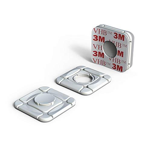 ClickClix Sistema de fijación Ideal Via-t/Telepeaje/Teletac, móvil, GPS, Router Adhesivo (Patentado) (2 Unidades, Blanco)