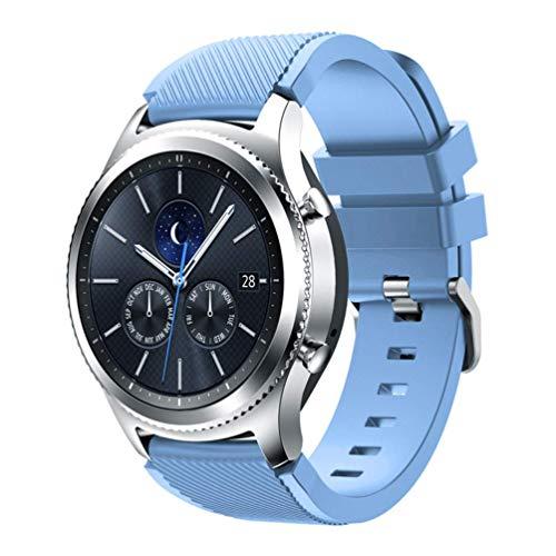 Apbands Banda de 22mm Compatible para Galaxy Watch 3 45mm/Galaxy Watch 46mm/Gear S3 Frontier/Classic/Ticwatch Pro 3/for Huawei Watch GT2 Pro/GT 2e/GT 46mm/GT2, Correa de Silicona Correa 22mm
