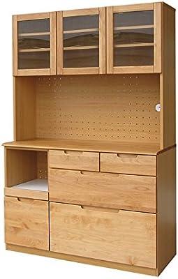 ISSEIKI キッチンオープンボード 幅120 ナチュラル 木製 大型開梱設置便 ERIS 120 OP (NA)