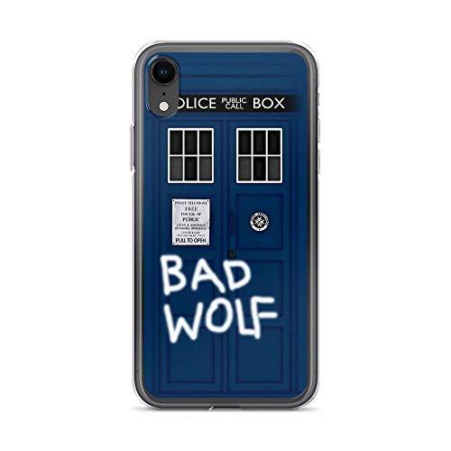 Byeel iPhone 7 Plus/8 Plus Hülle Anti-Kratzer Fälle Cover Police Public Call Box (w/Bad Wolf) Stoßfester weicher TPU-Schutz Transparent