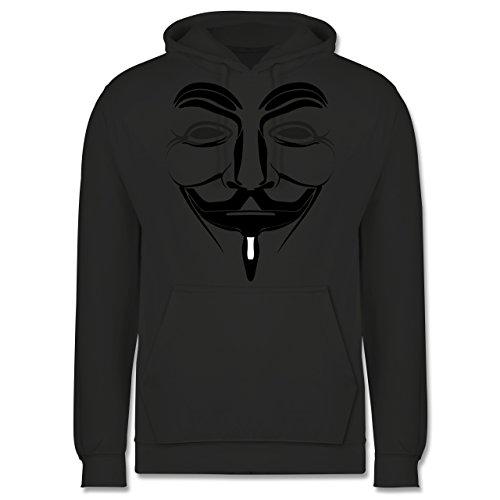 Shirtracer Nerds & Geeks - Anonymous Namenlos Hacker - XS - Anthrazit - Geschenk - JH001 - Herren Hoodie und Kapuzenpullover für Männer