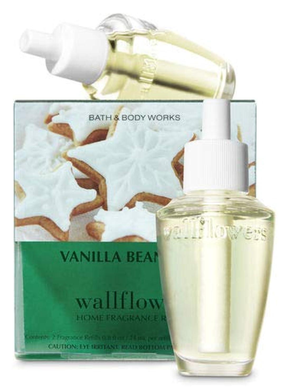 アリス伝導率幻想的【Bath&Body Works/バス&ボディワークス】 ルームフレグランス 詰替えリフィル(2個入り) バニラビーンノエル Wallflowers Home Fragrance 2-Pack Refills Vanilla Bean Noel [並行輸入品]
