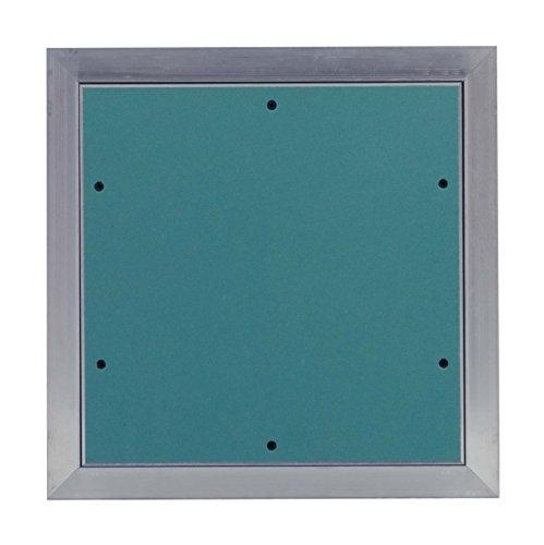 MW multi werkzeug Revisionsklappe 300 x 300 mm mit 25mm GK-Einlage imprägniert für Feuchtraum geeignet Aluminium-Rahmen 30 x 30 cm