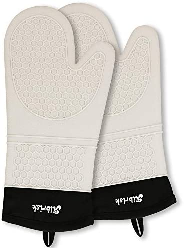 Aibrisk Silicone Oven Mitts Thicken Heat Resistant Flexible Non Slip Surface Cooking Gloves product image