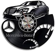 Mercedes logo vinyl vinyl record wall clock