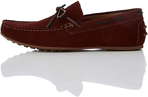 find. Arland Herren Mokassin Schuhe, Rot (Burgundy), 45 EU
