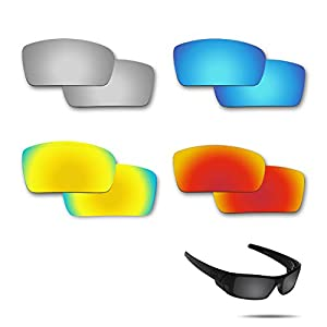 Fiskr Replacement Lenses Polarized for Oakley Gascan Sunglasses 4 Pairs Pack