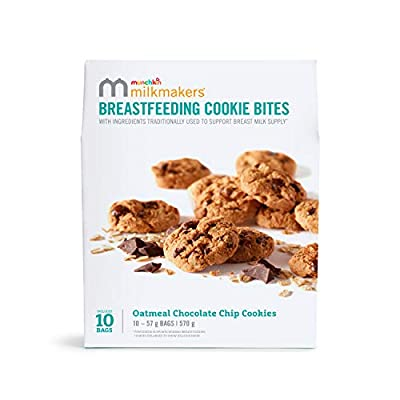 Munchkin Milkmakers Oatmeal Chocolate Chip Breastfeeding/ Lactation Cookies. Value Pack 10 x 57g Bags