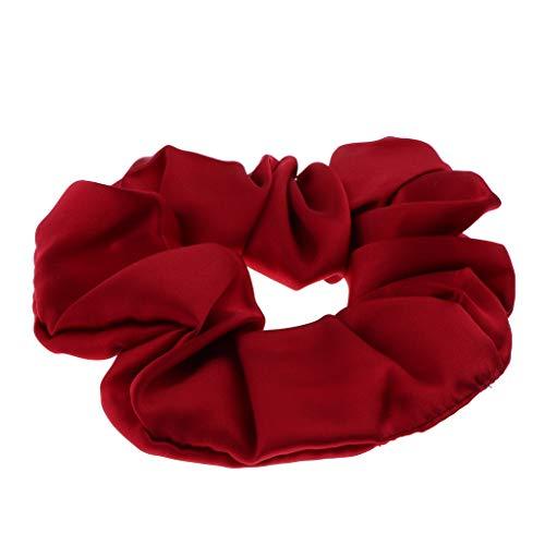 Nobranded 100% Mulberry Zijde Haar Scrunchies Elastische Haarband Zachte Bobble Haarbanden - Rood