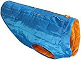 Kurgo Loft Jacket, Reversible Dog Coat, for Cold Weather, Water-resistant Dog Jacket with Reflective Trim, Blue/Orange, Small