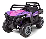 Kid Trax UTV Toddler/Kids Electric Ride On Toy, 12 Volt, 3-7 yrs Old, Max Weight 110 lbs, Single or Double Riders, Purple