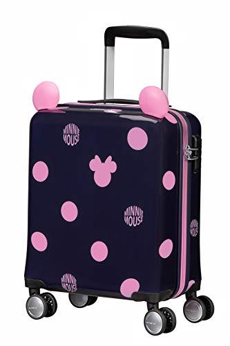 Samsonite Color Funtime Disney - Spinner XS Kindergepäck, 45 cm, 22 L, Blau (Minnie Pink Dots)