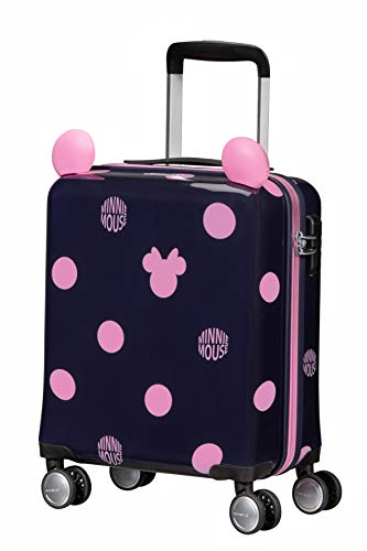 Samsonite Color Funtime Disney - Spinner XS Valigia per Bambini, 45 cm, 22 L, Blu (Minnie Pink Dots)
