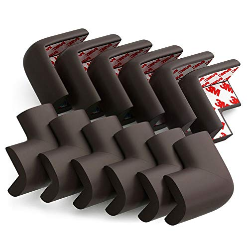 Soft Corner Protector, Baby Safety Cushion, Corner Bumpers for Furniture, Corner Proofing for Baby, Corner Cushion,Safety Table Edge Protector, Baby Proofing Edge, Corner Guards, 12 Pack, Brown