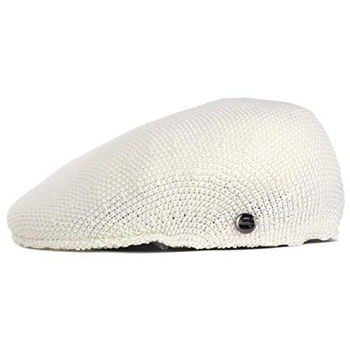 ボルサリーノハンチング帽メンズ春夏サーモニットハンチングborsalinoメンズ帽子サイズ調整可プロムナードオフホワイト