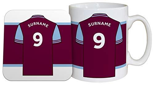 Personalised Aston Villa FC Shirt Mug & Coaster Set