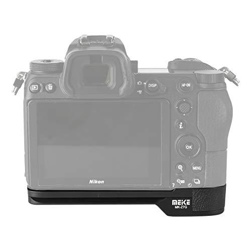 MEKE MK-Z7G Quick Release L Plate Hand Grip Bracket Metal Base Compatible with Nikon Z5 Z6 Z7 Z50 Z6II Z7II