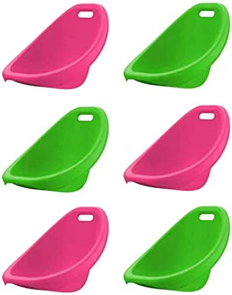 100 Plactic Made With Stylish Rocker Sets And Scoop Rocker In Assorted Colors Pack Of 6