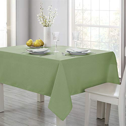 Eterish Rectangle Tablecloth, Sage Green Table Cloth in Washable Polyester, Stain Resistant Wrinkle Free Spill-Proof Tablecloth for Dinner Party Restaurant, 60 x 84 inch