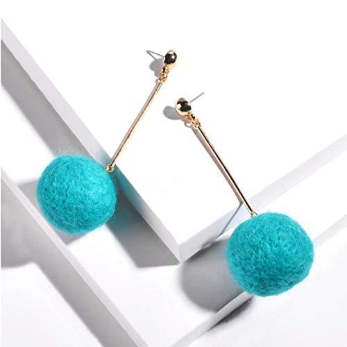 Empty Pendientes Colgantes de Bola de Arco Iris de Moda Linda Pendientes Colgantes de joyería de Invierno para Mujer