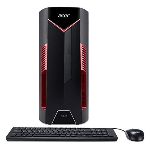 Acer Nitro N50-600 Gaming PC - (Intel Core i5-9400F, 8GB RAM, 1TB HDD, Nvidia GeForce GTX 1650, DVD/RW,USB Keyboard and Mouse, Windows 10, Black/Red)