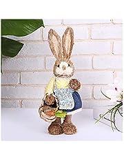 GUMEI Cute Paja Conejo Conejito Decoraciones de Pascua Vacaciones Hogar Jardín Adorno de Boda