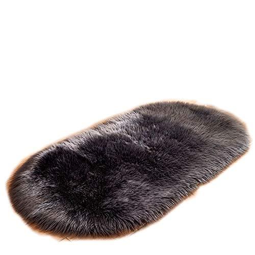Why Should You Buy CarPet, Bedroom Super Soft Modern Fluffy Oval Bed Linen (Color : Black, Size : 40...