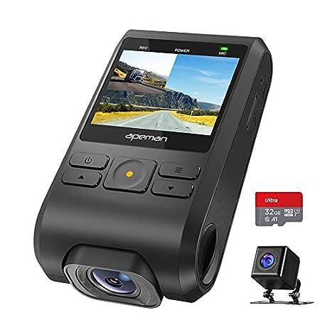 【4/20まで】APEMAN 2インチ前後カメラ採用ドライブレコーダー C550A、32GSDカード付きで3,976円送料無料!